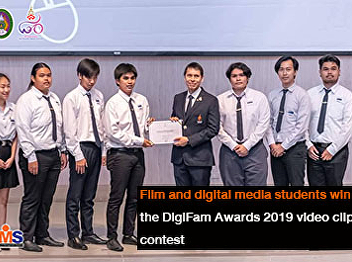 Film and digital media students win the DigiFam Awards 2019 video clip contest
